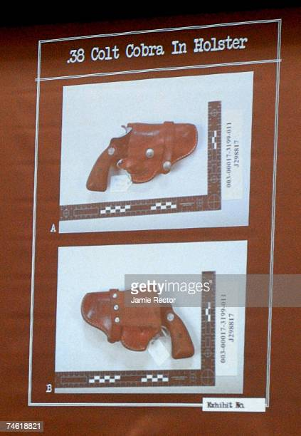 A photo of a holster that was recovered from Phil Spector's home along with a weapon that is similar to the death weapon used on Lana Clarkson for...