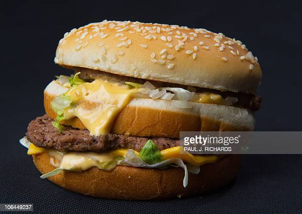 A photo of a McDonalds' Big Mac hamburger November 2 2010 AFP Photo/Paul J Richards