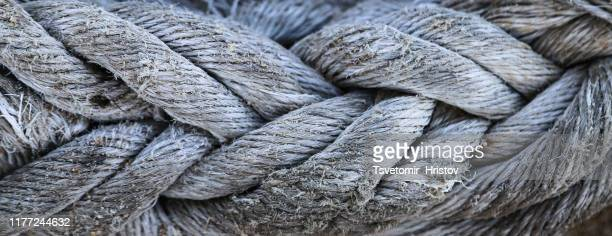 a photo of a ship's rope for use as a background - rough stock pictures, royalty-free photos & images