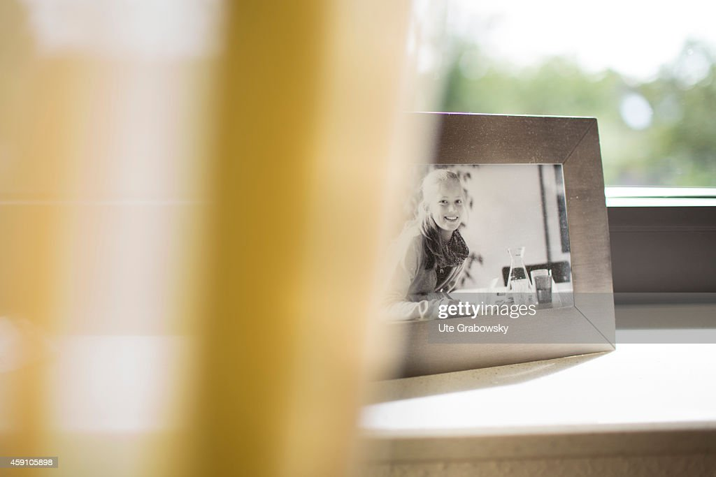 Picture Frame On A Windowsill : News Photo