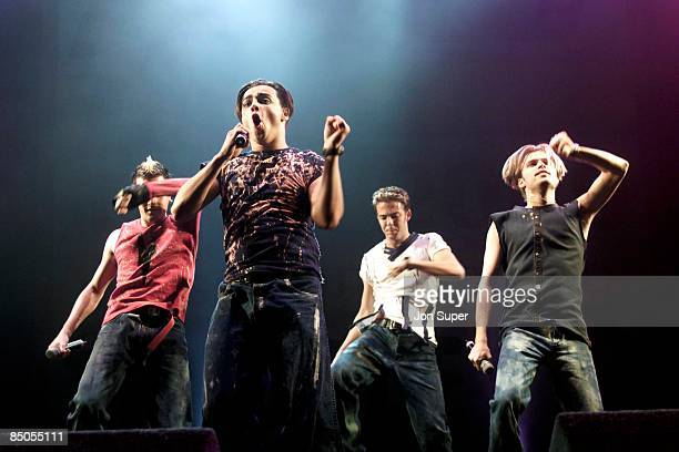 Photo of A1; live on the Smash Hits Tour