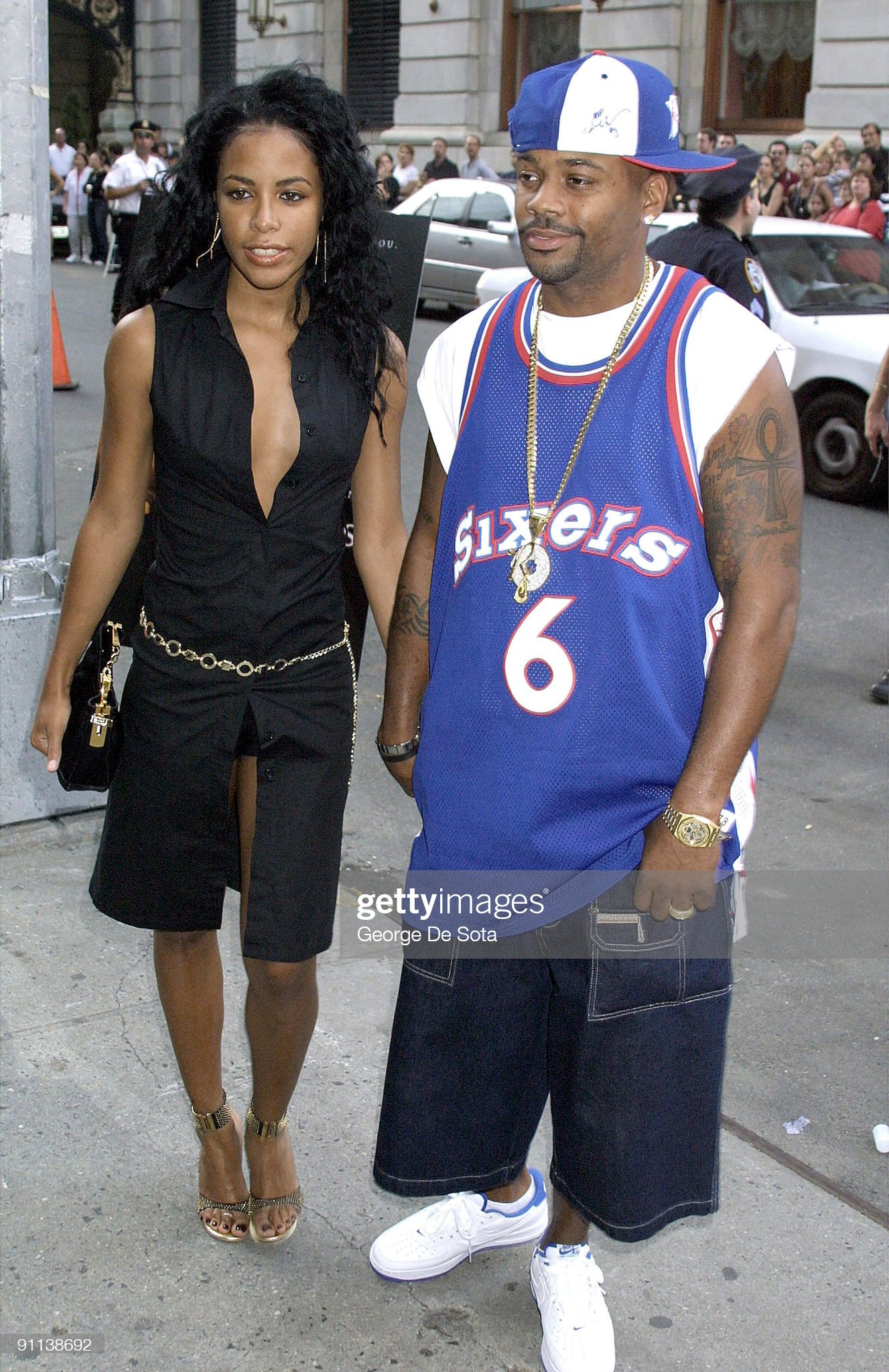 ¿Cuánto mide Aaliyah Haughton? - Altura - Real height Photo-of-aaliyah-and-damon-dash-with-damon-dash-picture-id91138692?s=2048x2048