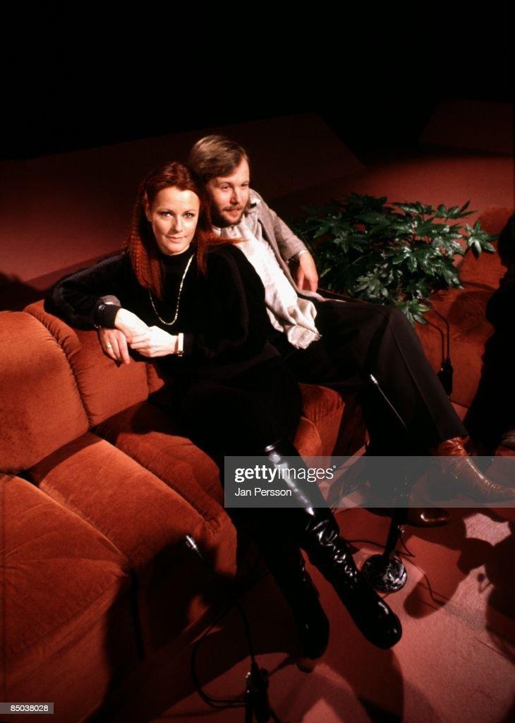Photo of ABBA 4; ABBA Copenhagen 1977, Frida Lyngstad & Benny Anderson