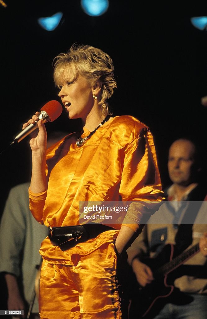 FESTIVAL Photo of ABBA and AGNETHA, Agnetha Faltskog (formerly of Abba), performing live onstage