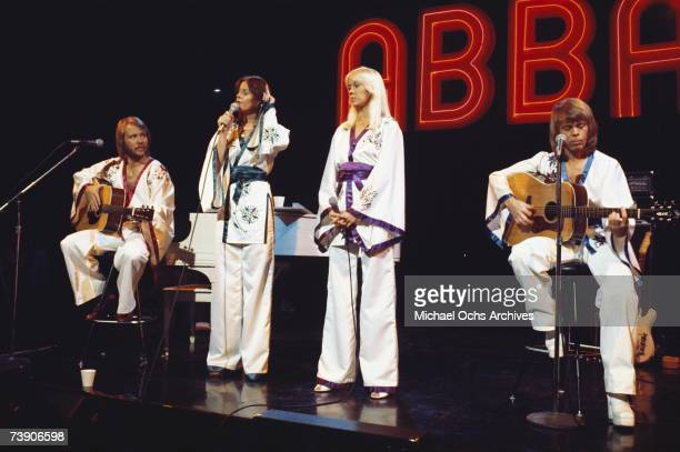 Photo of Abba, February 4 California, Los AngelesMidnight Special TV show,AbbaL-R: Benny Andersson, Anni-Frid Lyngstad.