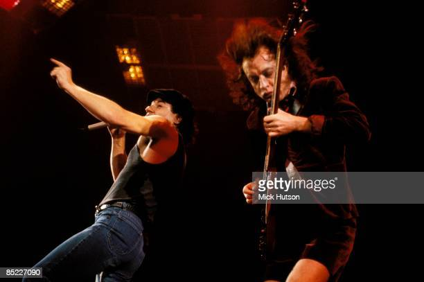 ARENA Photo of AC/DC and Angus YOUNG and Brian JOHNSON and AC DC Brian Johnson and Angus Young performing live onstage