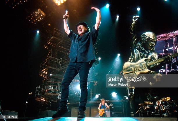 PARK Photo of AC/DC and Malcolm YOUNG and Brian JOHNSON and Phil RUDD and AC DC Brian Johnson Malcolm Young Phil Rudd performing live onstage with...