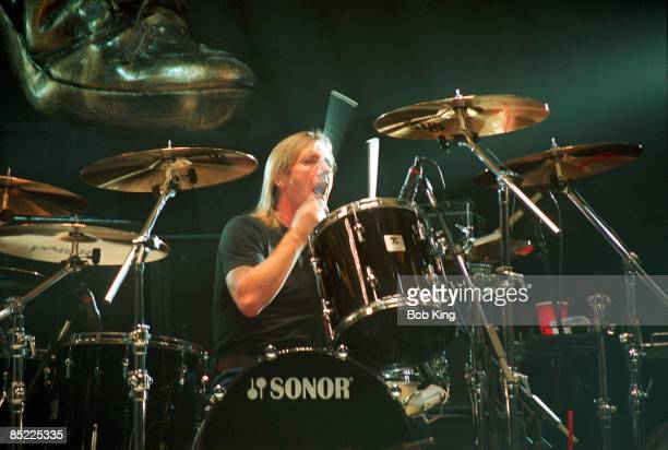 CENTRE Photo of AC/DC Phil Rudd performing live onstage