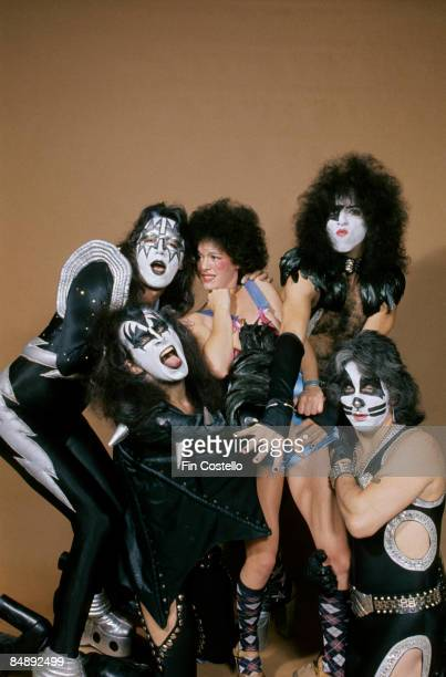 Photo of Ace FREHLEY and Peter CRISS and KISS and Paul STANLEY and Gene SIMMONS LR Ace Frehley Gene Simmons model Paul Stanley Peter Criss posed...