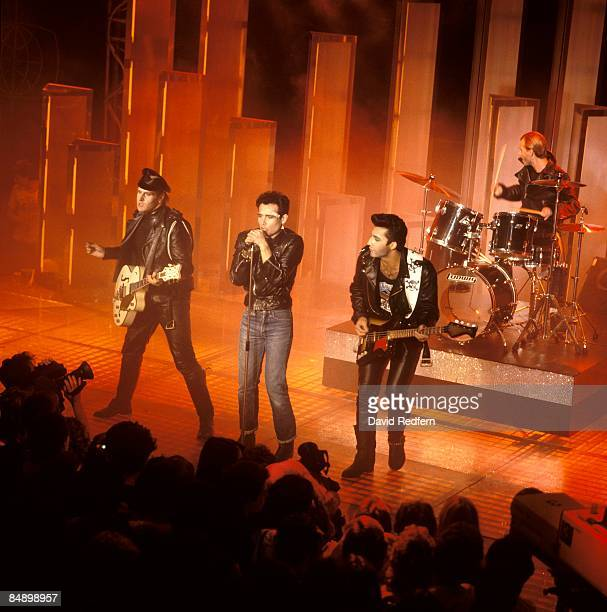Photo of ADAM ANT and ADAM THE ANTS LR Marco Pirroni Adam Ant performing live onstage