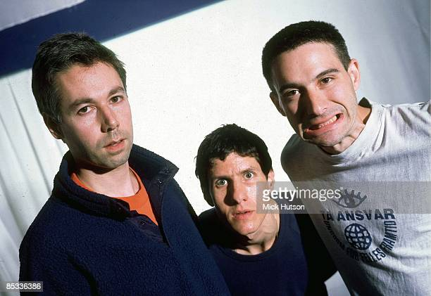 Photo of Adam HOROVITZ and Michael DIAMOND and Adam YAUCH and BEASTIE BOYS; Posed studio group portrait L-R MCA , Mike D and Ad Rock