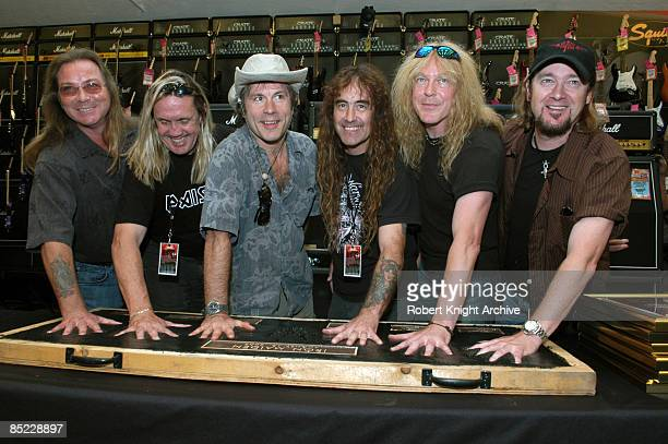 HOLLYWOOD Photo of Adrian SMITH and Bruce DICKINSON and Dave MURRAY and IRON MAIDEN and Janick GERS and Nicko McBRAIN and Steve HARRIS Dave Murray...