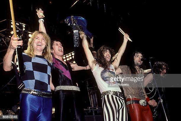 GARDEN Photo of Adrian SMITH and IRON MAIDEN and Dave MURRAY and Nicko McBRAIN and Steve HARRIS and Bruce DICKINSON Dave Murray Nicko McBrain Steve...