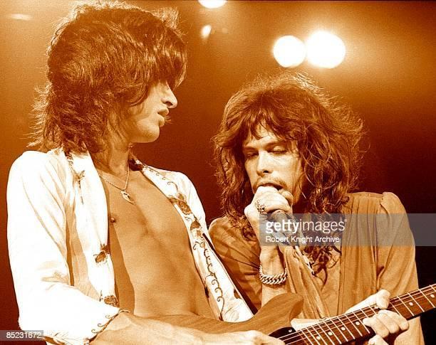 HONOLULU Photo of AEROSMITH and Joe PERRY and Steven TYLER Steven Tyler Joe Perry performing live onstage
