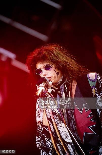 PARK Photo of AEROSMITH and Steven TYLER Steven Tyler performing live onstage at Monsters Of Rock