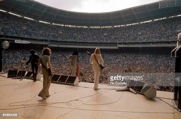 STADIUM Photo of AEROSMITH View from backstage RFK Stadium Washington DC