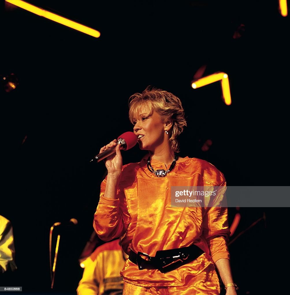 FESTIVAL Photo of AGNETHA and ABBA, Agnetha Faltskog (formerly of Abba), performing live onstage
