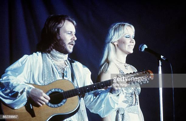 Photo of Agnetha FALTSKOG and Benny ANDERSSON and ABBA LR Benny Andersson and Agnetha Faltskog performing live onstage