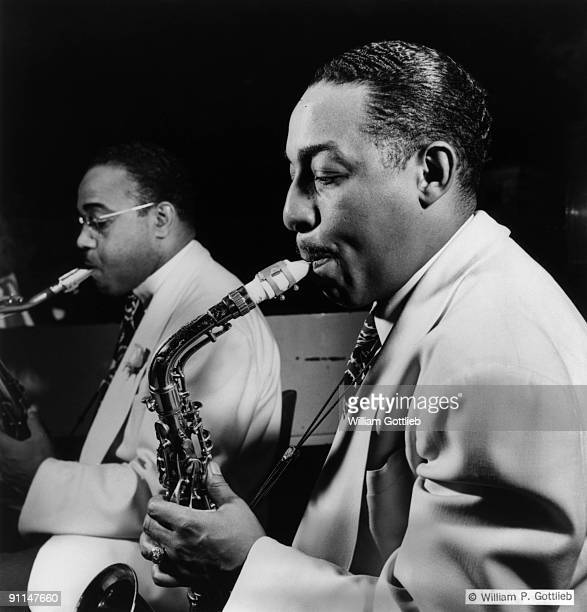 Photo of Al SEARS and Johnny HODGES LR Al Sears Johnny Hodges