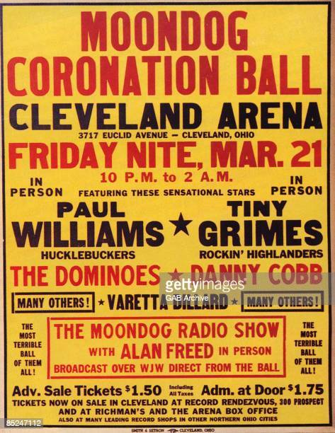 Photo of Alan FREED and CONCERT POSTERS and MOONDOG; Concert Poster