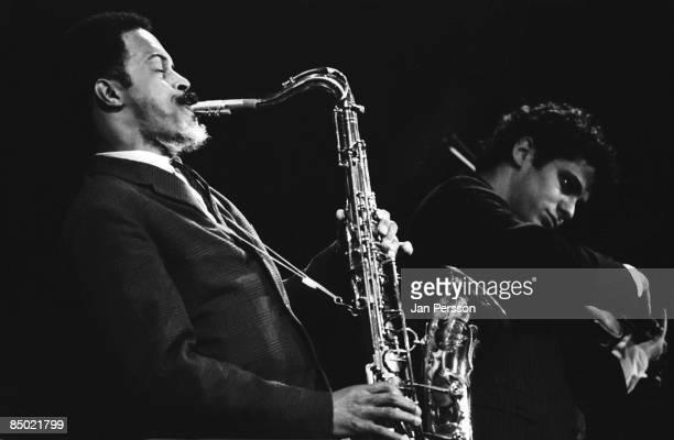 Photo of Albert Ayler 2; Albert Ayler with Michael Sampson in concert Copenhagen october 1966