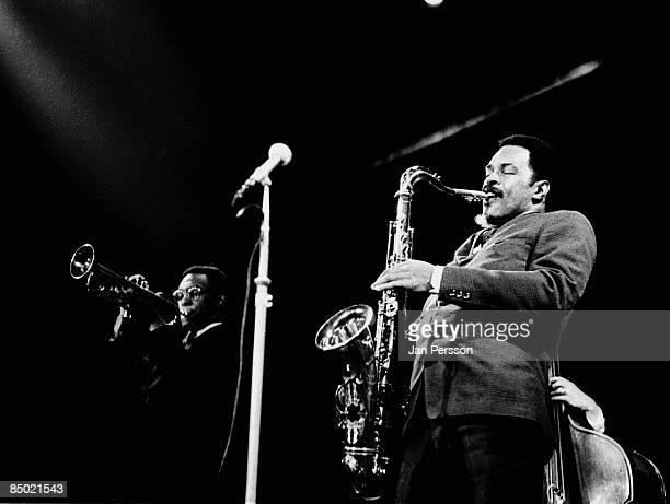 Photo of Albert Ayler 7; Albert Ayler and Don Ayler in concert,Copenhagen october 1966