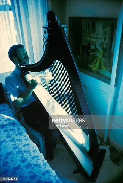 Photo of Albert AYLER; At home in Brooklyn