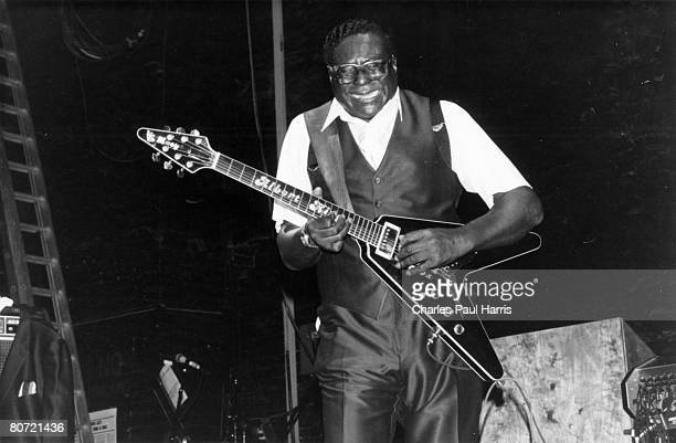 Photo of Albert King at the Astoria Charing Cross Road London 1987