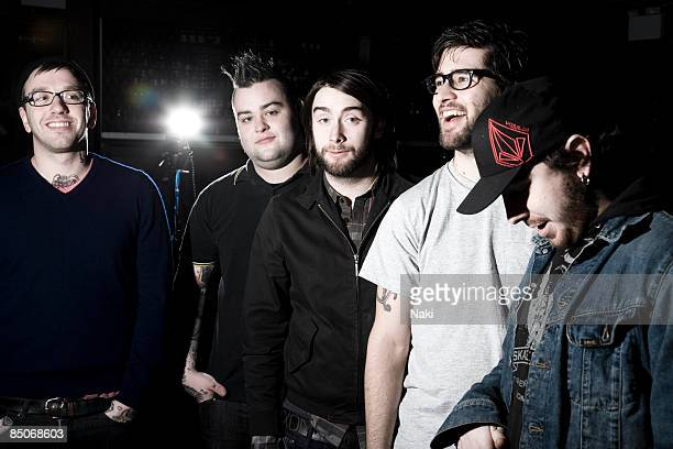 ASTORIA Photo of ALEXISONFIRE Posed Group Portrait LR Dallas Green Wade MacNeil Jordan Hastings George Pettit and Chris Steele