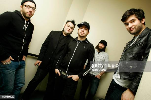 ACADEMY Photo of ALEXISONFIRE Posed group portrait LR Dallas Green Wade MacNeil Chris Steele Jordan Hastings and George Pettit