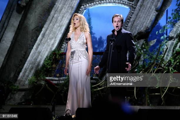 HALL Photo of Alfie BOE and CLASSICAL BRIT AWARDS and Natasha MARSH w/ Alfie Boe performing live onstage at the Classical Brit Awards