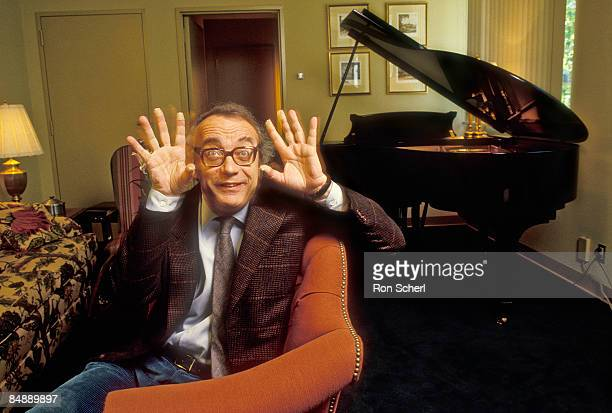 Photo of Alfred BRENDEL Posed portrait of pianist Alfred Brendel in the green room at the Davies Symphony Hall