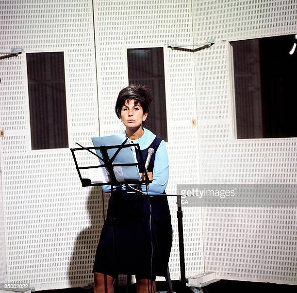 Photo of Alma COGAN Alma Cogan performing in a recording studio