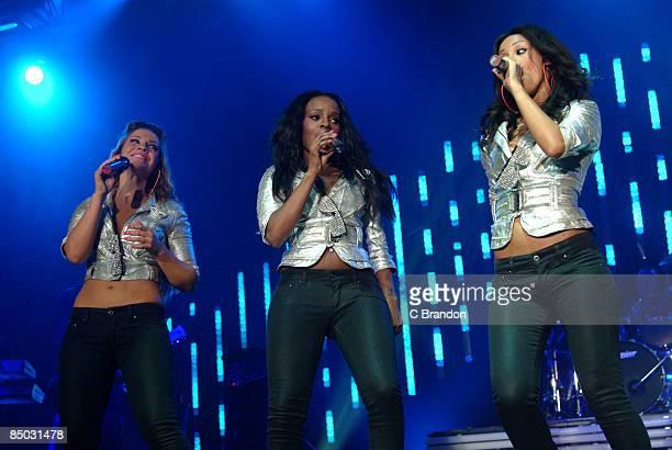 ARENA Photo of Amelle BERRABAH and Keisha BUCHANAN and Heidi RANGE and SUGABABES LR Heidi Range Keisha Buchanan Amelle Berrabah performing together...