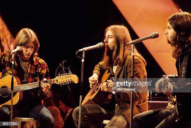POPS Photo of AMERICA Gerry Beckley Dewey Bunnell Dan Peek performing live on Top Of The Pops TV Show