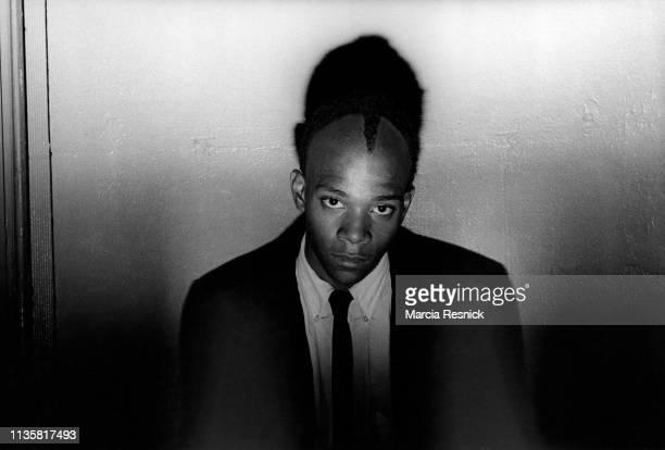 Photo of American artist JeanMichel Basquiat New York New York 1980