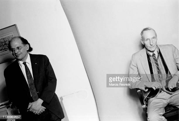 Photo of American Beat authors Allen Ginsberg and William S Burroughs at the latter's Bunker on the Bower, New York, New York, March 1980.