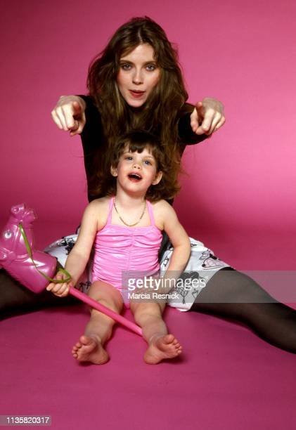 Photo of American fashion model Bebe Buell and her daughter Liv Tyler New York New York 1980