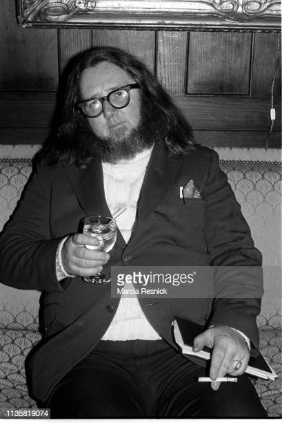 Photo of American poet Ted Berrigan at the Literary Gold Medal Awards Dinner held at the National Arts Club in the Gramercy Park neighborhood, New...