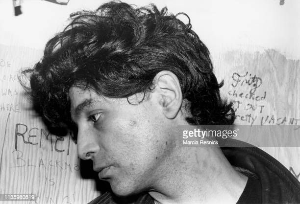 Photo of American Punk and Electronic musician Alan Vega , of the duo Suicide, New York, New York, 1978.