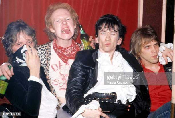 Photo of American Punk group the Dead Boys New York New York 1982 Pictured are from left Jimmy Zero Cheetah Chrome Stiv Bators and Johnny Blitz