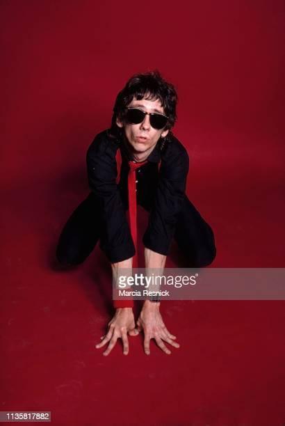 Photo of American Punk musician Stiv Bators of the group the Dead Boys New York New York 1980