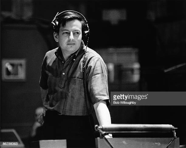 Photo of Andre PREVIN Andre Previn during the recording of the 'My Fair Lady' soundtrack