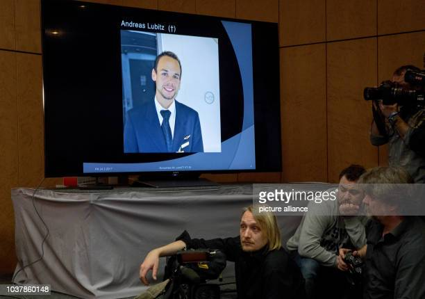 A photo of Andreas Lubitz the copilot of the Germanwings plane that crashed in the French Alps two years ago is shown during a press conference in...