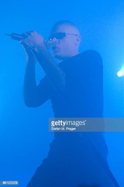 Photo of Andrew ELDRITCH and SISTERS OF MERCY Andrew Eldritch performing live on stage at the Tonhalle