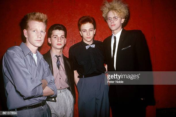 Photo of Andrew FLETCHER and Martin GORE and Dave GAHAN and DEPECHE MODE LR Andrew Fletcher Dave Gahan Alan Wilder Martin Gore