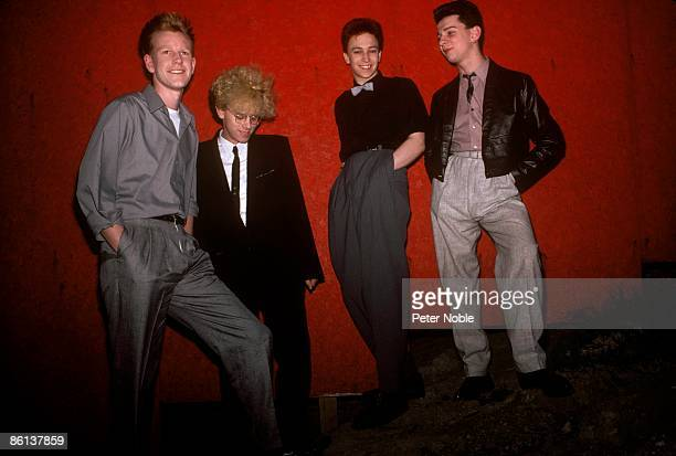 Photo of Andrew FLETCHER and Martin GORE and Dave GAHAN and DEPECHE MODE LR Andrew Fletcher Martin Gore Alan Wilder Dave Gahan