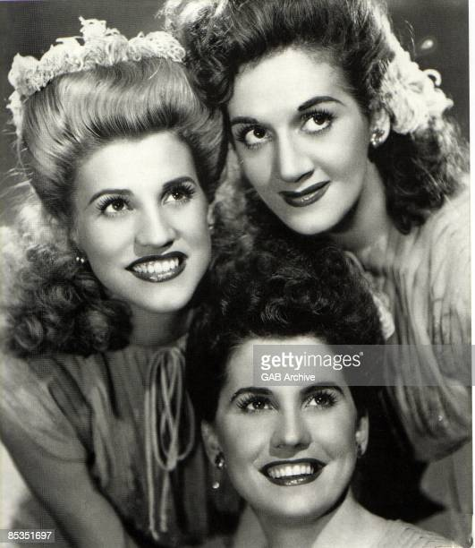 Photo of ANDREWS SISTERS Group portrait Clockwise from left Patty LaVerne and Maxene Andrews
