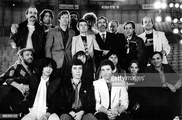 Photo of Andy FAIRWEATHERLOW and Paul RODGERS and Kenney JONES and Jimmy PAGE and Jeff BECK and FACES and Eric CLAPTON and Charlie WATTS and Bill...
