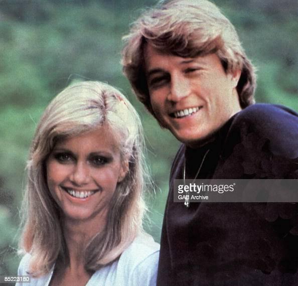 USA Photo Of Andy GIBB And OLIVIA NEWTON-JOHN, L-R: Olivia